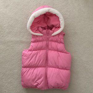 Crazy 8 Pink Hooded Puffer Vest Jacket-Size L
